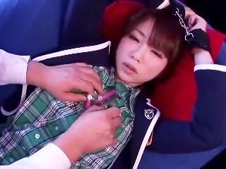 【二宮沙樹】ショートカット美少女が玩具オナニー&着衣中出しセックスでよがりまくり!