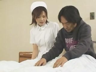 【松野ゆい】夜の病室で入院患者に襲われて徹底的にレイプされてしまう美人ナース